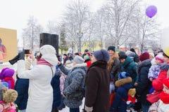 Semana de la crepe del d?a de fiesta en Bielorrusia moderno fotografía de archivo libre de regalías