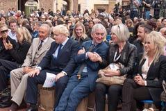 Semana de la manera de Londres de la primera fila de Boris Johnson. Fotos de archivo