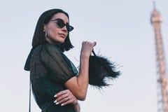 Semana de la moda de París - estilo de la calle - PFWAW19 fotografía de archivo libre de regalías