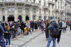 A semana de moda de Milão Fotografia de Stock