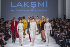 A semana de moda ucraniana em Kyiv, Ucrânia Fotografia de Stock