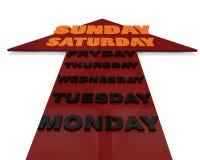 Semana dos dias ilustração do vetor
