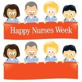 Semana feliz de las enfermeras aislada Imágenes de archivo libres de regalías