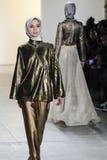 Semana FW 2017 de la moda de Nueva York - colección de Anniesa Hasibuan Foto de archivo