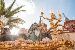 Semana jultomten i Sevilla royaltyfri fotografi
