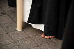 Semana jultomten i Sevilla royaltyfri bild