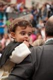 Semana jultomten i Sevilla royaltyfri foto