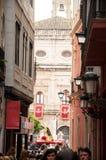 Semana jultomten i Sevilla royaltyfria foton
