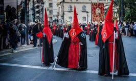 Semana jultomten, Valencia arkivfoton