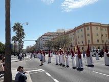 Semana Santa Cadiz, avenida principal stock image