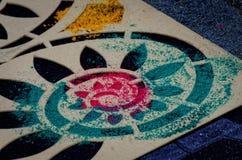 Semana Santa Carpet Stencil II Imagens de Stock Royalty Free