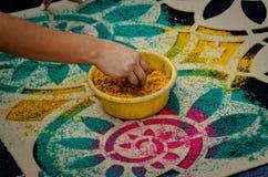 Semana Santa Carpet Stencil Stock Photos