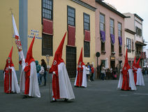 Semana santa 05. Catholic procession in Tenerife, Spain royalty free stock photos