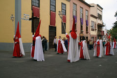 Semana santa 02. Catholic procession in Tenerife, Spain Stock Photos