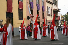 Semana santa 04. Catholica procession in Tenerife, Spain Royalty Free Stock Images