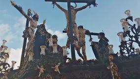 Semana santa de Cádiz, Jesús en la cruz almacen de metraje de vídeo