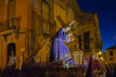 A Semana Santa em Zamora, Espanha foto de stock