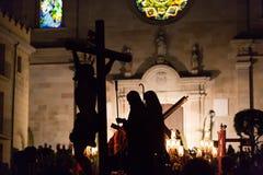 Semana santa en Badalona, España fotografía de archivo