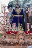 Semana santa en San Fernando, Cádiz, España Nuestro padre Jesus del poder soberano en su detención fotografía de archivo libre de regalías