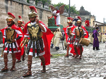 Semana Santa in Guatemala. Procession of Roman Soldiers during Holy Week in  Antigua, Guatemala Stock Image