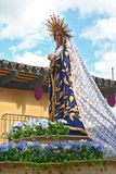 Semana Santa in Guatemala. Statue of the Virgin Mary carried through the streets of Antigua, Guatemala, during Holy Week Stock Photography