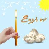 Semana Santa Huevos de Pascua Fotografía de archivo libre de regalías