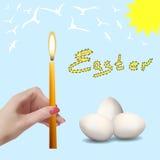 Semana Santa Huevos de Pascua Imágenes de archivo libres de regalías