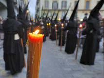 Semana Santa in Spain. Procession during the Semana Santa in Spain(this is the Holy week before Easter royalty free stock photo
