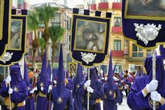 Semana Santa in Spain. Procession during the Semana Santa in Spain(this is the Holy week before Easter stock images