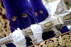 Semana Santa in Spain. Procession during the Semana Santa in Spain(this is the Holy week before Easter stock image
