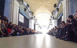 Semana ucraniana AW 17-18 de la moda en Kyiv, Ucrania Foto de archivo libre de regalías