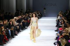 39.a semana ucraniana de la moda en Kiev Imagen de archivo libre de regalías