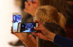 39.a semana ucraniana de la moda en Kyiv, Ucrania Imagenes de archivo