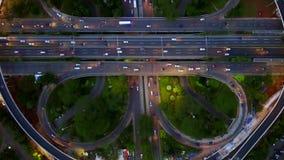 Semanggi路互换顶视图英尺长度  股票视频