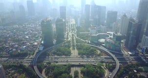 Semanggi高速公路互换在雅加达 股票录像