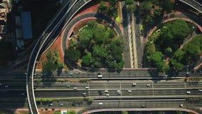 Semanggi高速公路交通顶视图  股票录像