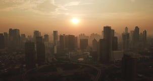 Semanggi CBD空中英尺长度在雅加达市 股票录像