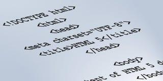 Semantisk kod för HTML 5 Arkivfoton