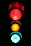 Semaphor si è illuminato con tutti gli indicatori luminosi Immagine Stock Libera da Diritti