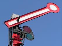 Semaphore. Open semaphore on blue sky Royalty Free Stock Photo