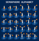 Semaphore alphabet flags Royalty Free Stock Photo