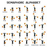 Semaphore Alphabet Flags On A White Background Royalty Free Stock Images
