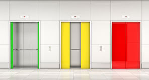 Semaphore elevator door Stock Image
