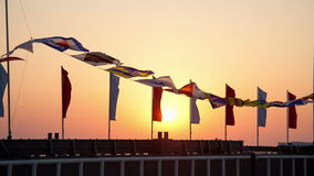 Semaphore flags Stock Images