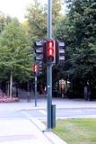 The semaphore of Pedestrian traffic lights Oslo, Norway.  Royalty Free Stock Image