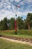 Semaphore on Pereslavl rail Royalty Free Stock Photography