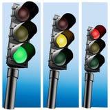 Semaphore Realistic Traffic lights. Stock Photos