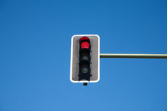 Semaphore red light on Stock Image