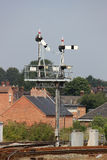 Semaphore signal gantry at Shrewsbury station Stock Photography