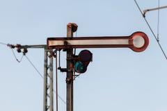 Semaphore train signal Royalty Free Stock Images